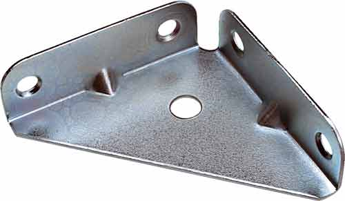Corner Gussets Zinc-Plated 65mm X 65mm X 19mm - Fixing King