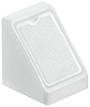 White Mini Corner Connecting Shelving Blocks Shelf Support Bracket Plastic Plinth Fixing with Cover Cap