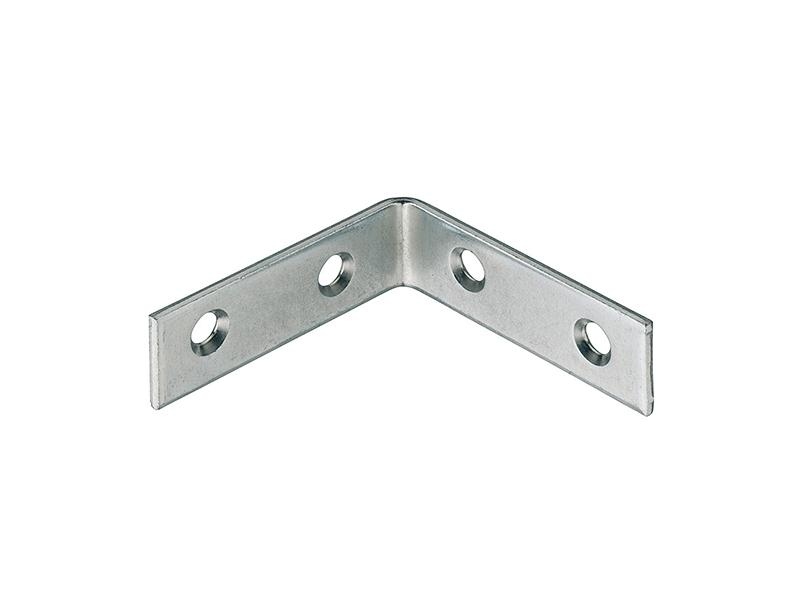 Corner L Braces Angle Brackets Zinc-Plated 60 x 60 x 18mm