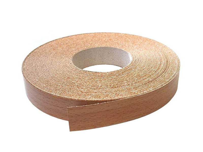Melamine Tape for Edging Kitchen or Bathroom Cabinets, 10 Meter Roll Light Beech