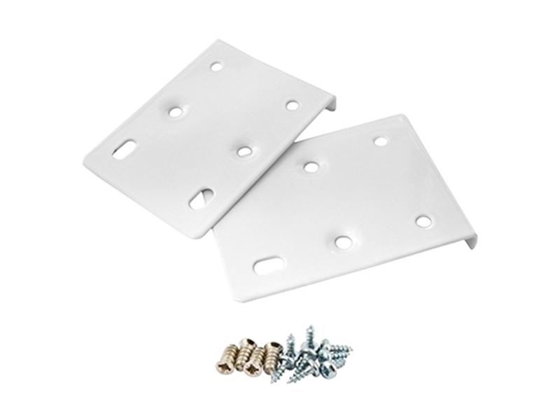 Pair of Cream White Hinge Repair Plates