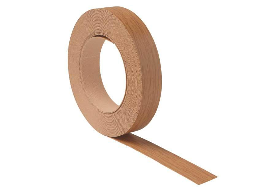 Melamine Tape for Edging Kitchen or Bathroom Cabinets, 10 Meter Roll Oak