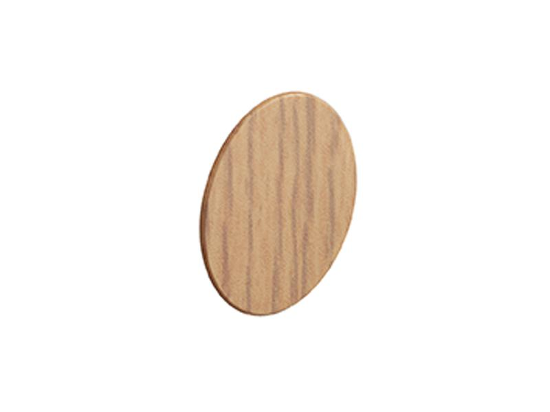 Self Adhesive Screw Cover Caps. Nail and Cam Covers 18mm - Oak (36)