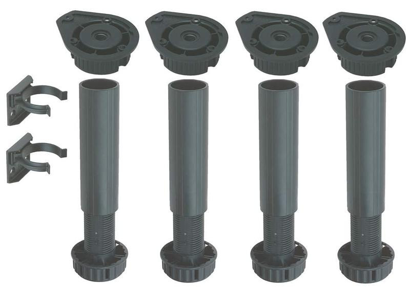 Plinth Foot Set, for 150 to 180mm Plinth Heights, Screw Fixing (Set)