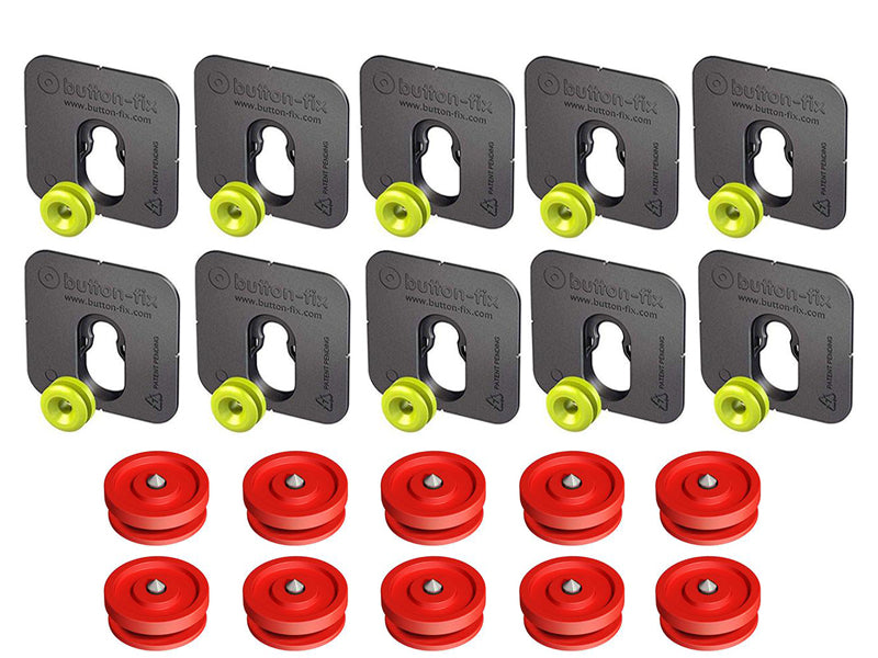 Button Fix - Type 1 - Bonded & Button (Pack of 10+10)