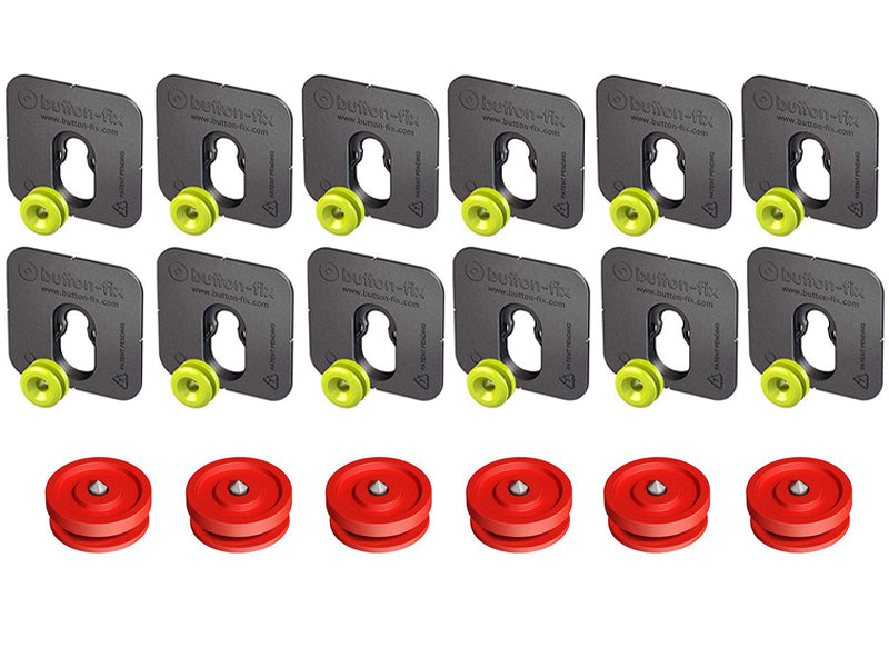 Button Fix - Type 1 - Bonded & Button (Pack of 12+6)