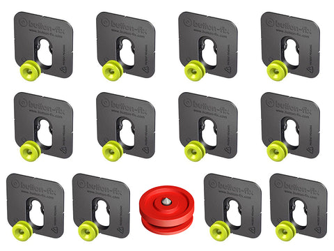 Button Fix - Type 1 - Bonded & Button (Pack of 12)