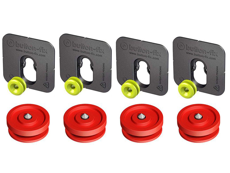Button Fix - Type 1 - Bonded & Button (Pack of 4+4)