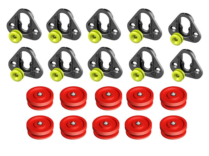 Button Fix Type 1 Bracket - Fix & Button (Pack of 10+10)