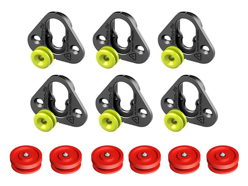 Button Fix Type 1 Bracket - Fix & Button (Pack of 6+6)