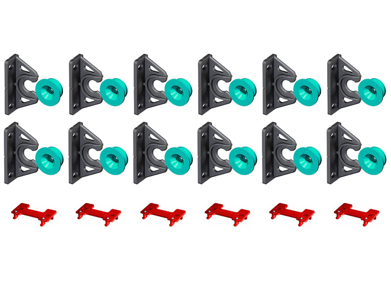 12 x Button Fix Type 2 Bracket Marker Guide Kit Connecting 90º Degree Panels
