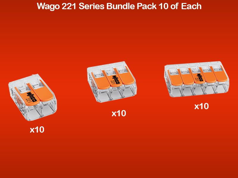 Wago 221 Series Bundle 10 of Each