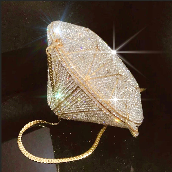 Glitz Cone Crystal Bag - Fashion Addict Shop