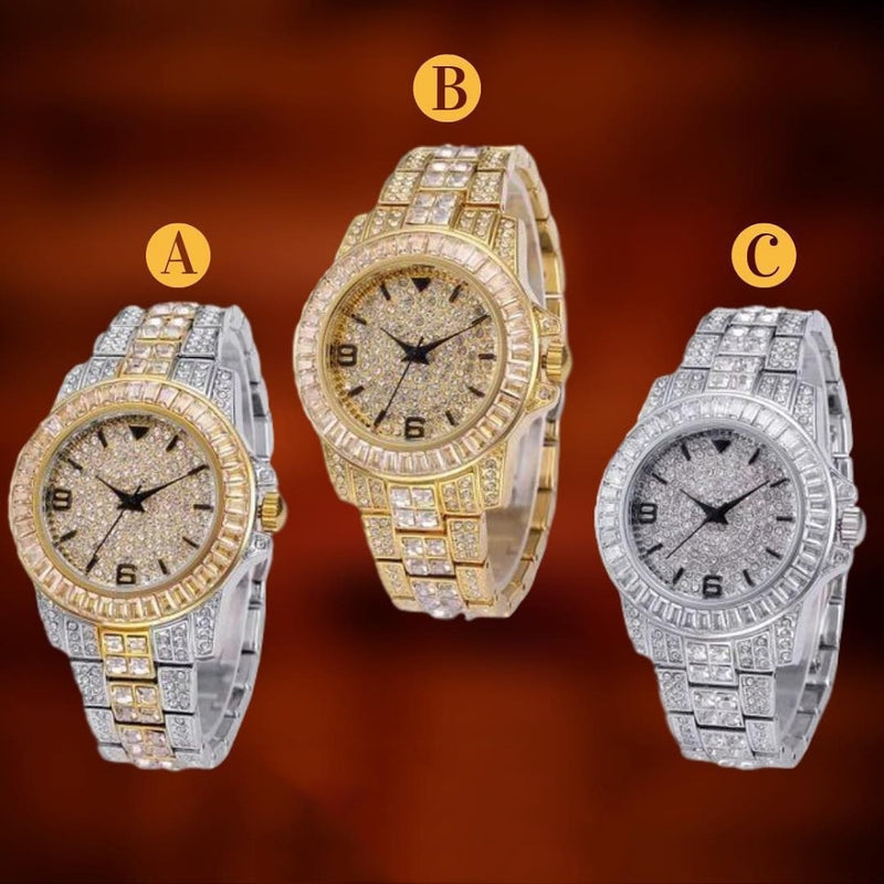 TOPGRILLZ ICED OUT Baguette Watch Quartz Gold HIP HOP Wrist Watches With Micro pave CZ Stainless Steel Wristband Clock Hours - Fashion Addict Shop