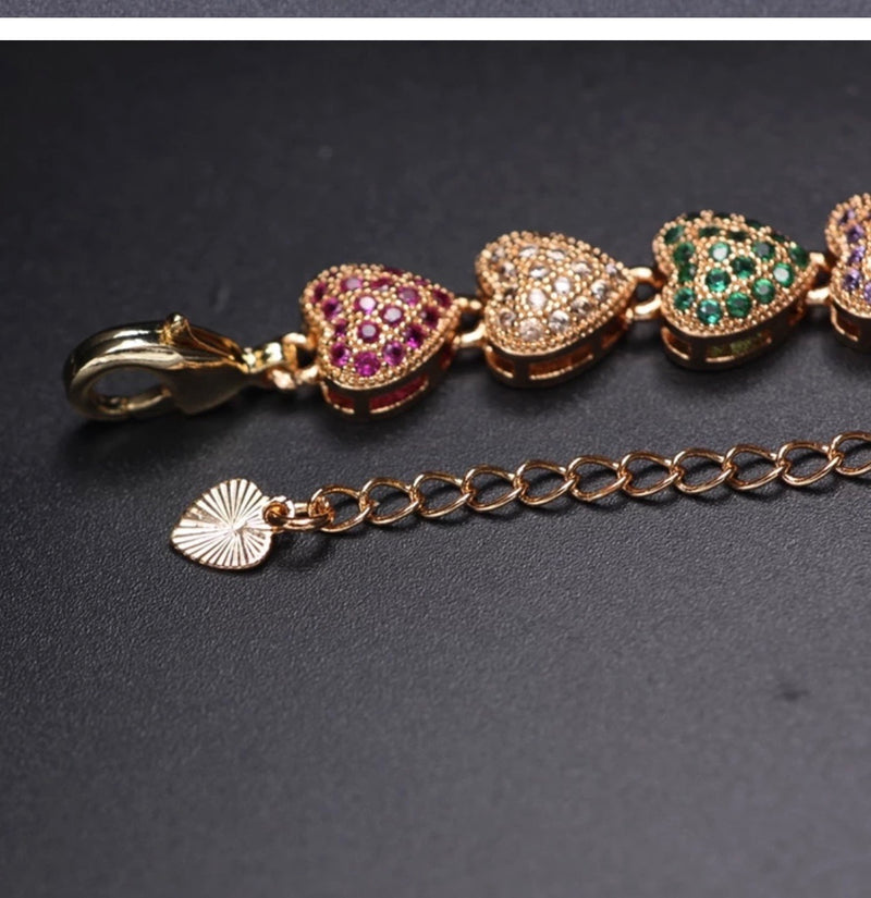4 colors Luxury Heart shape bracelet - Fashion Addict Shop