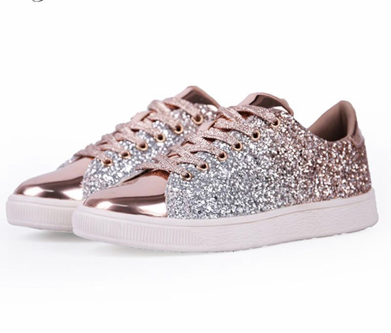 Shiny Street Fashion Glitz Sneakers - Fashion Addict Shop