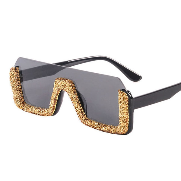 Luxury Crystal Square Sunglasses - Fashion Addict Shop