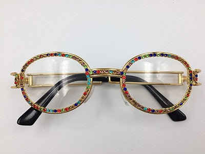 Steampunk Multicolor Rhinestone Shades - Fashion Addict Shop