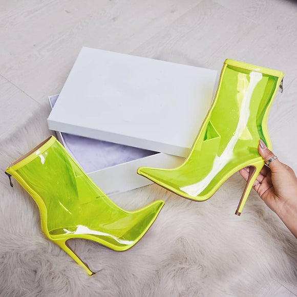 Right Thru Me Ankle Heels - Fashion Addict Shop