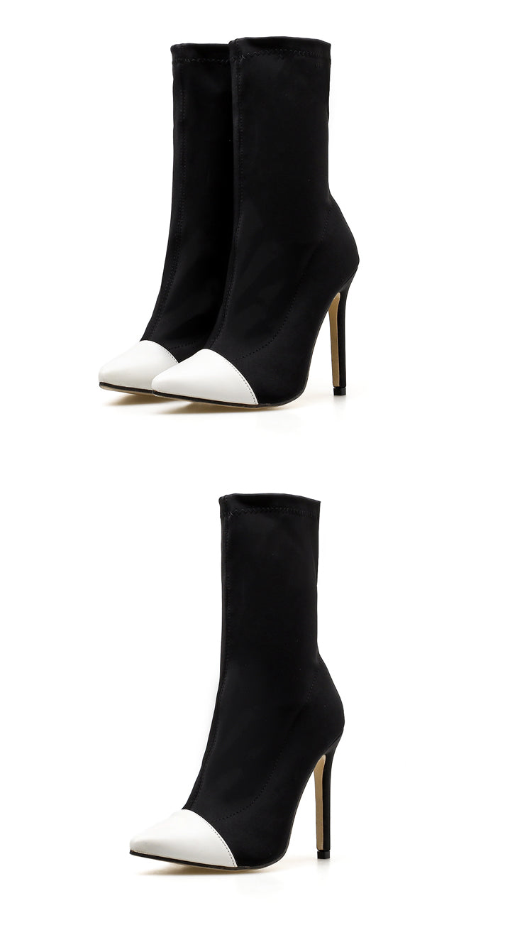 White Out Ankle Boots - Fashion Addict Shop