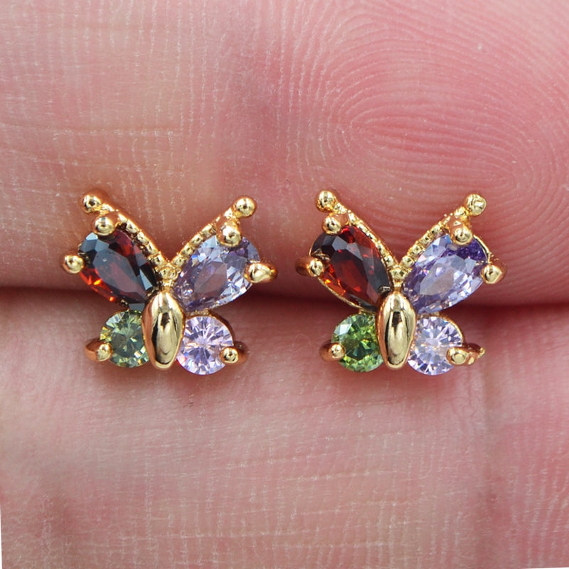 Cute Butterfly Stud Earrings - Fashion Addict Shop