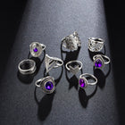 9pcs/sets Vintage Silver Rings Set - Fashion Addict Shop
