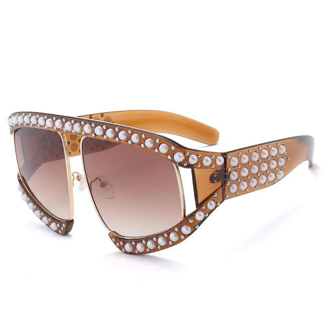 Pearl Cat Eye Sunglasses - Fashion Addict Shop