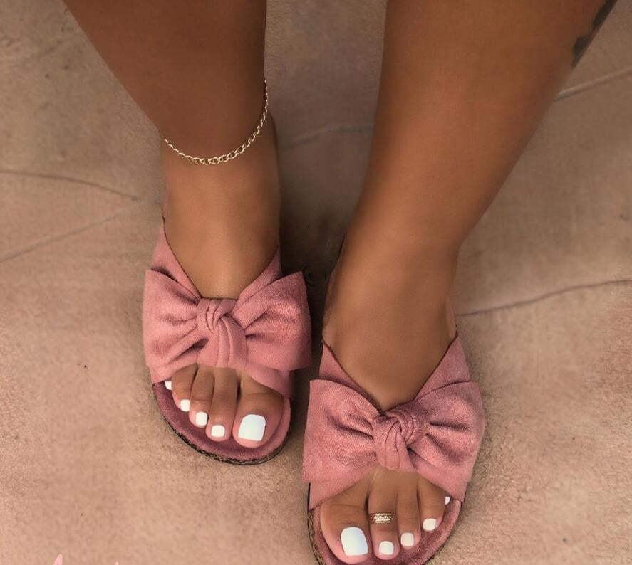 Pretty Bow Slides - Fashion Addict Shop