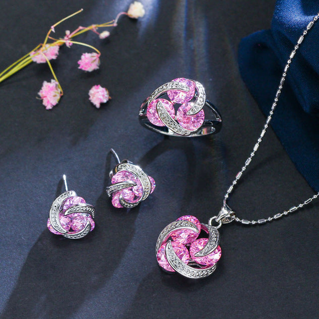 Champagne Pink Jewelry Set - Fashion Addict Shop