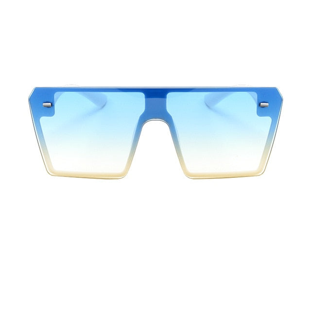 Oversized Square Flat Top Sunglasses - Fashion Addict Shop