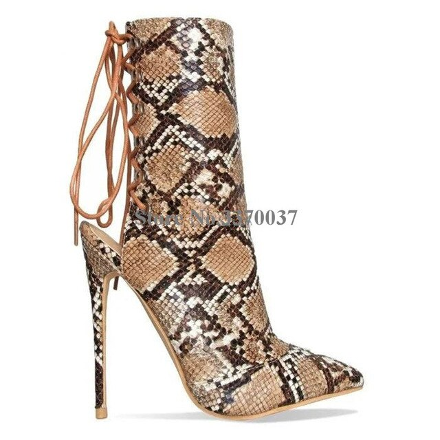 Gladiator Lace Up Stilettos - Fashion Addict Shop