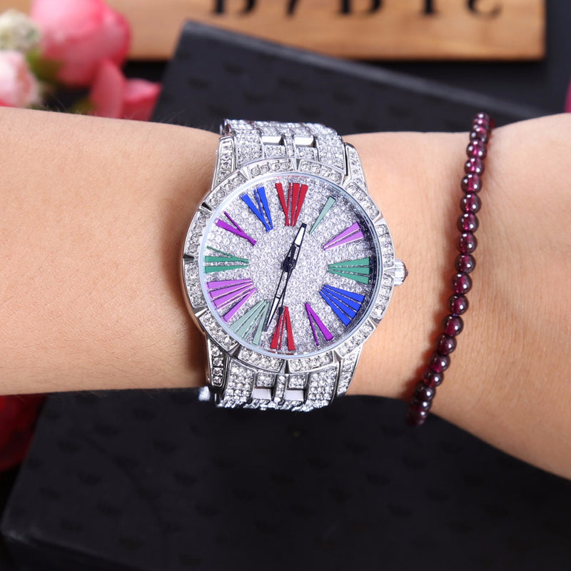 Multicolor Dial Glitz Watch