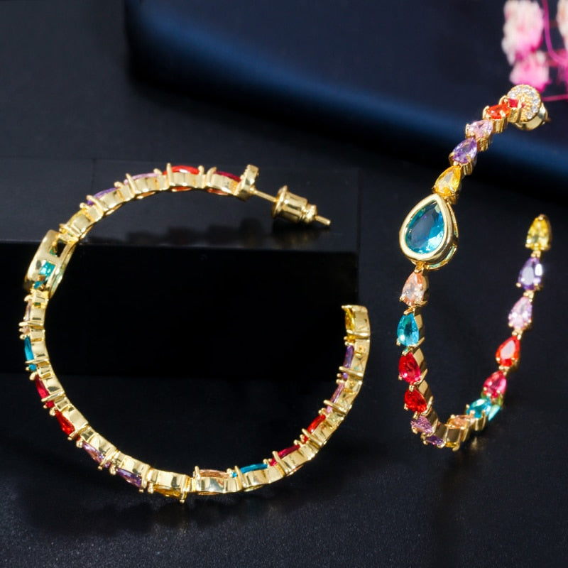 Yellow Gold Multi Earrings - Fashion Addict Shop