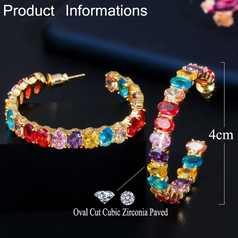 Crystal multi earrings - Fashion Addict Shop
