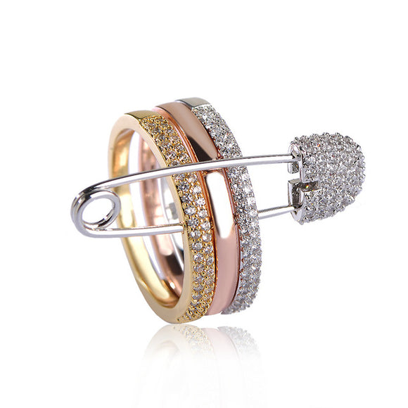 3 Color Ring With Pin - Fashion Addict Shop