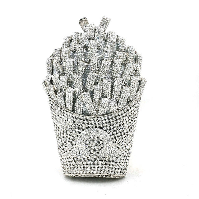 Crystal Fries Clutch - Fashion Addict Shop