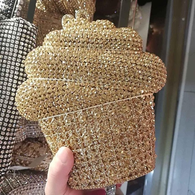 Luxury Ice cream Crystal Evening Bag - Fashion Addict Shop