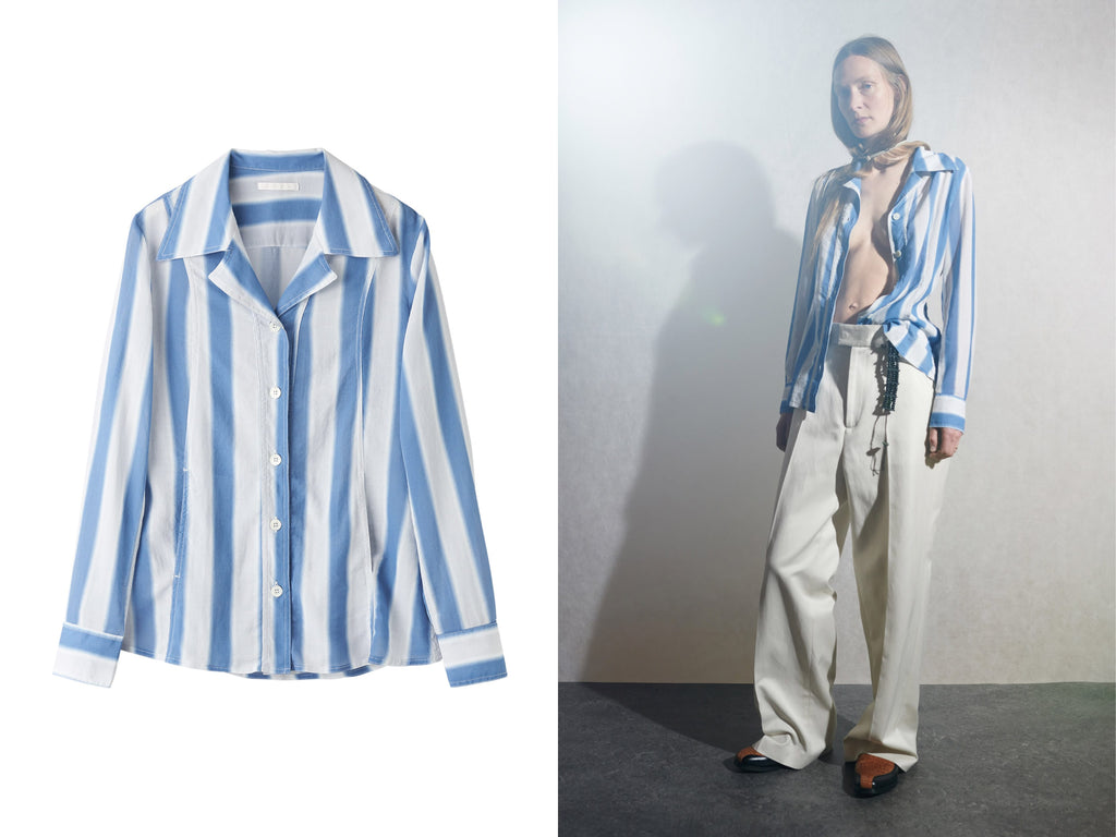 Manifesto Our Legacy BLUE BLUR STRIPE SOUL JACKET Womenswear