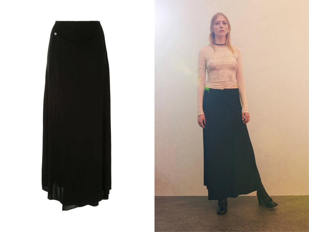 Manifesto Our Legacy BLACK JERSEY BIAS SKIRT Womenswear