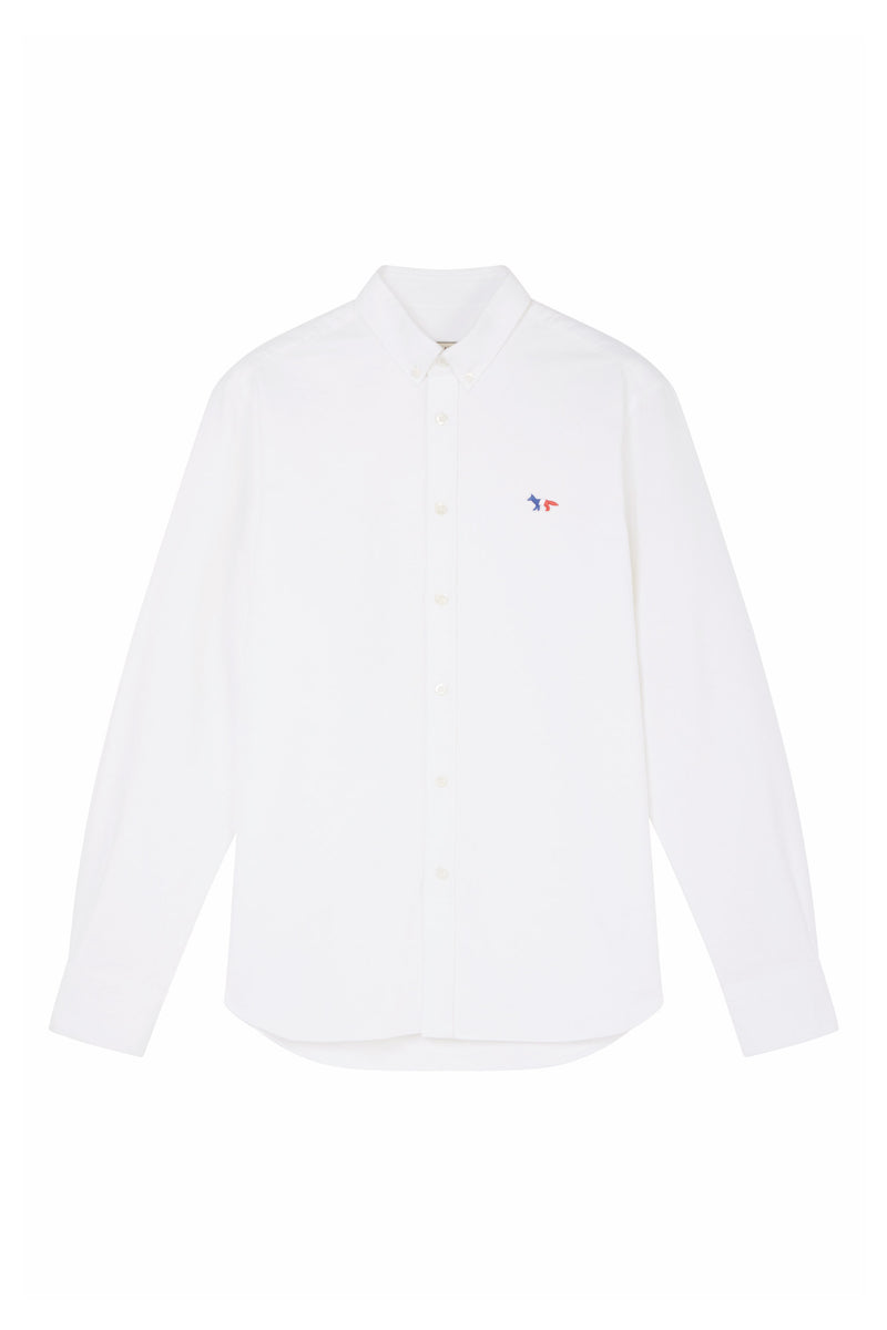 Tricolour Fox White Oxford Shirt