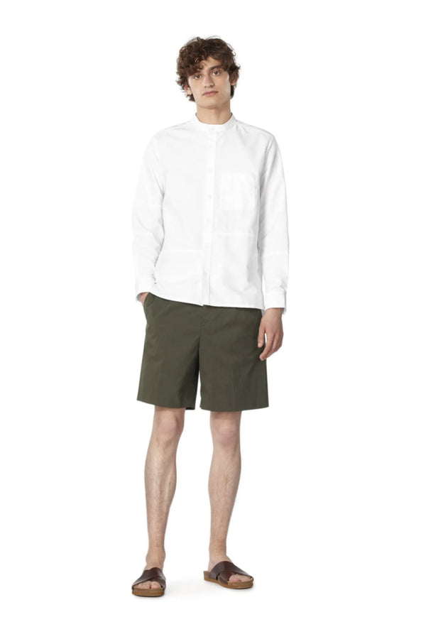 Khaki Terry Garbadine Shorts