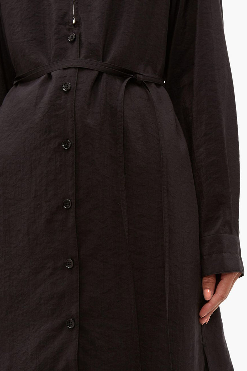 Black Silk Zipped Dress