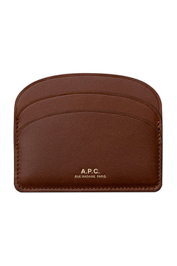 Brown Half Moon Card Holder