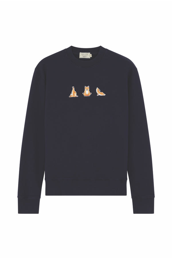 Navy Yoga Fox Sweatshirt