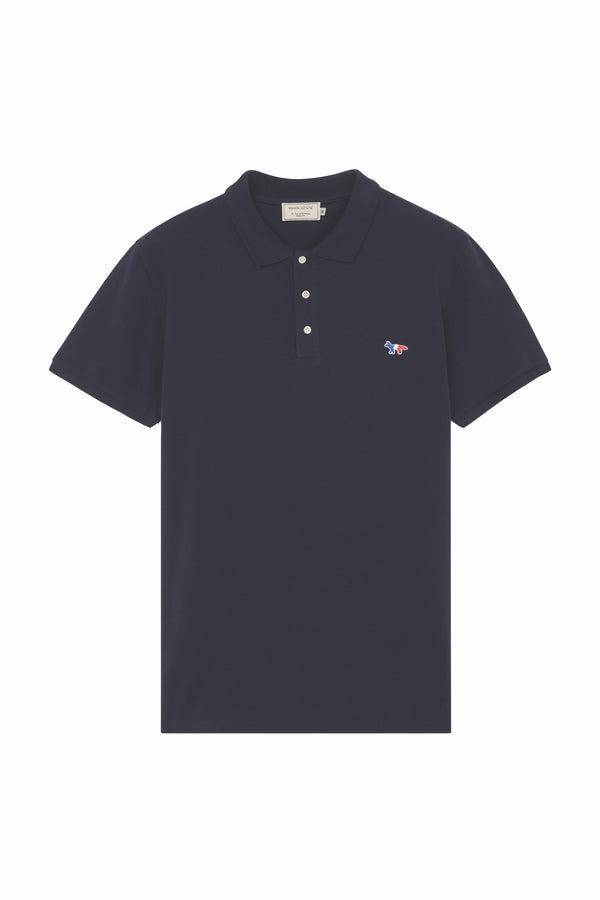 Navy Tricolor Fox Patch Polo