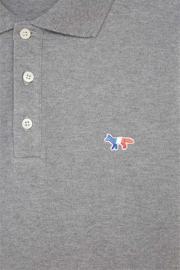 Grey Tricolor Fox Patch Polo