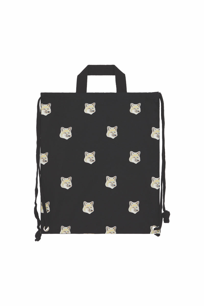 Allover Pastel Foxhead Tote Backpack