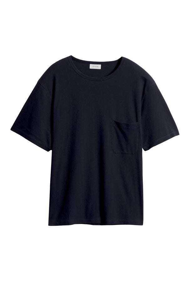 Blue Black Rib Tshirt