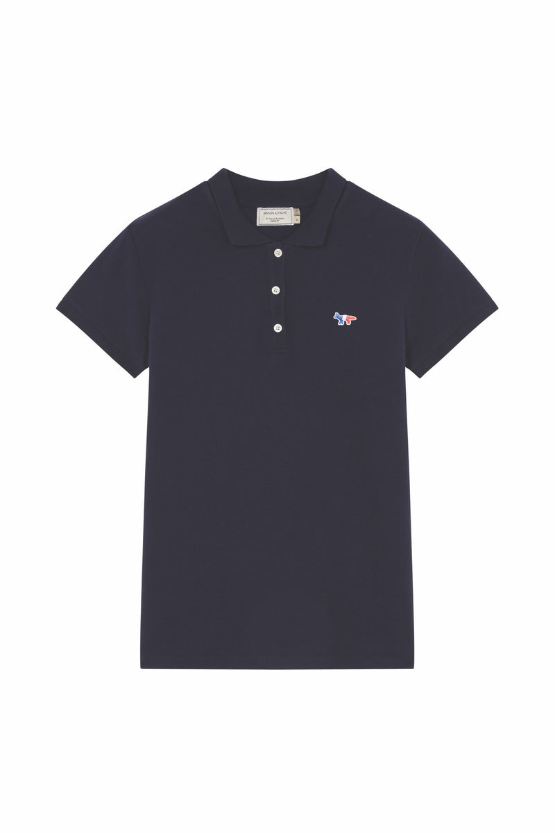 W Navy Tricolor Fox Polo