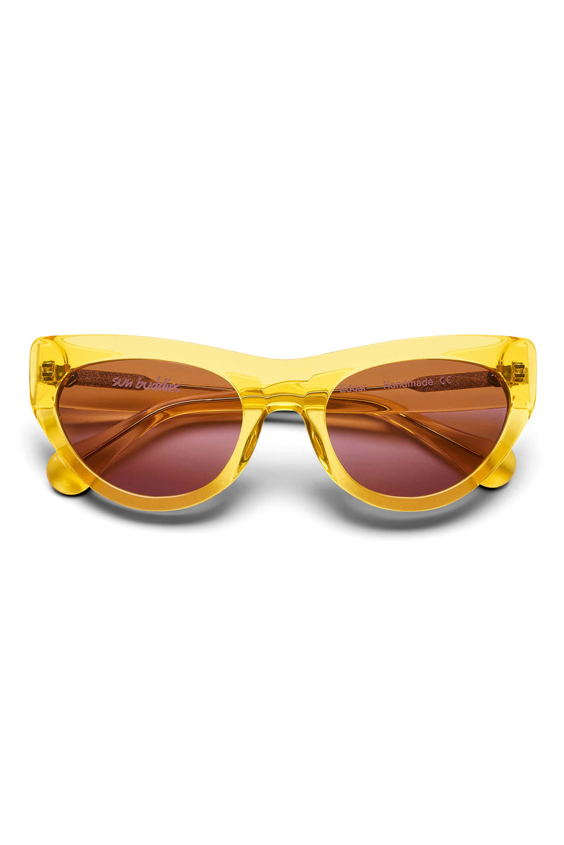 Manifesto Shop Sun Buddies Edgar Clear Yellow Sunglasses Tinted Lens Front View